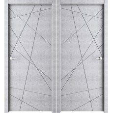 Дверь межкомнатная Паутинка бетон светлый 700*2000