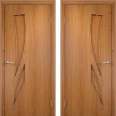 Дверное полотно С-02 миланский орех ПГ-800 (Геометрия)