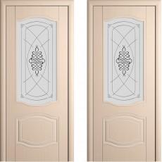 Дверь шпонированная Мария беленый дуб ПО-700