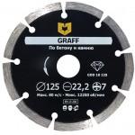 Алмазный диск сплошной по керамической плитке GRAFF 125х7х2.0х22,23 мм