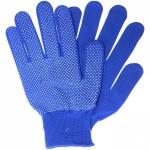 Перчатки нейлоновые с ПВХ синие